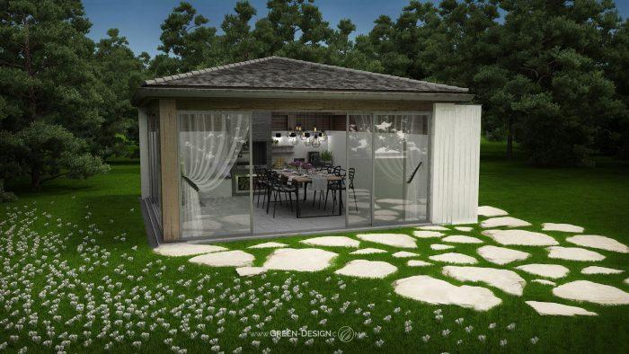 Sklep Green Design - Altana z krokusami - Odbicie lustrzane